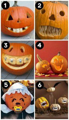 idée citrouille peur halloween dents idée originale