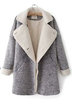 Autumn & Winter New Section Lapel Woolen Overcoat
