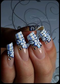 Natural Tone Acrylic Nails With Swarvoski Crystal Designs By Josanne