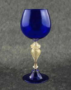 Calice blu cristallo