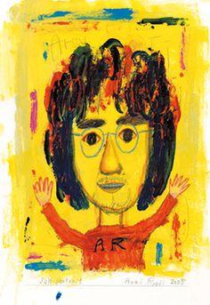 荒井良二 Ryōji Arai is a Japanese illustrator.日本の絵本作家。  His production of picture books is both large and varied – from small books for toddlers, to picture books of nonsense, fairy tales and poetry, both written himself and by other writers. He has also worked with advertising, magazine illustration and theater set design.