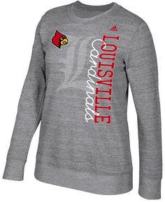 1f46a8bbb adidas Women s Louisville Cardinals Color Merge Crew Sweatshirt - Gray S