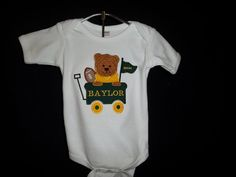 #Baylor Monogrammed Football Game Day