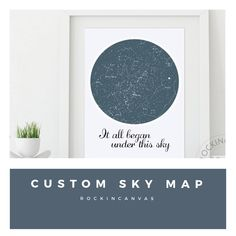 My Sky Moment My Sky Moment X Personalized Poster Of The - Star map from my location