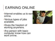 The Fexinc Online Marketing: EARNING ONLINE