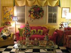 "Mark Ballard House-Atlanta. Mark is my ""crafting hero""! He is just so multi-talented! Anything he makes is beautiful - his Christmas showhouses are ""eyecandy""!"