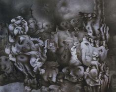 Invention of a Dream - Richard Oelze - - Surrealism, 1960 Max Ernst, Salvador Dali, Surrealism Painting, Museum, Art Database, Arte Popular, Fantastic Art, Dark Art, Installation Art