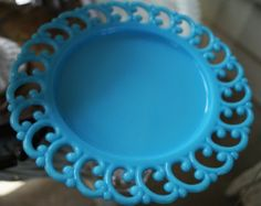 blue milk glass on Etsy, a global handmade and vintage marketplace.