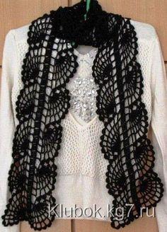 Katia Ribeiro Acessórios: Cachecol em crochê com gráfico