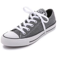Converse Chuck Taylor All Star Sneakers ($29) ❤ liked on Polyvore featuring shoes, sneakers, converse, sapatos, black, black laced shoes, converse sneakers, converse trainers, lightweight sneakers and star sneakers