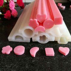 Tubo de corazón de la forma redonda de silicona molde del jabón savon moule flower luna molde de tubo para el tubo de silicona moldes de jabón hecho a mano