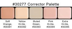 HD Glamour Creme Palette, Corrector Shades