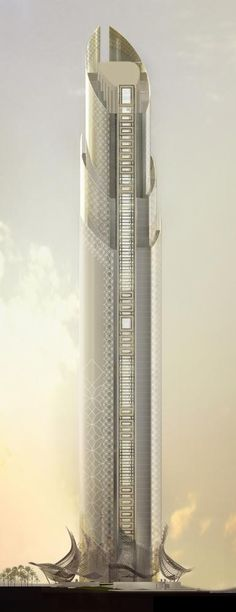 Residential Tower, Dubai, UAE by Innovarchi Architects :: 80 floors Future Buildings, Unique Buildings, Interesting Buildings, Amazing Buildings, Backyard Canopy, Garden Canopy, Canopy Outdoor, Pvc Canopy, Canopy Crib