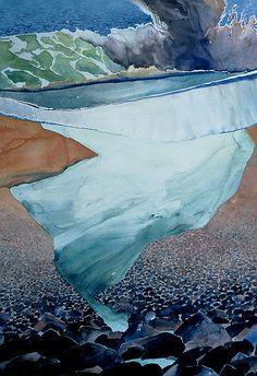 RANDALL DAVID TIPTON 'Rivulet' watercolor 48x36