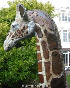 Giraffe (Detail) - paper small stoneware cut large glass clay cardboard ceramic dry mosaic drawn stick form fibre plate made x winter garden frost cold english giraffe forms profile tile weather shape shapes cheek sculptural place flesh vertical big spaces johnson correct vitreous making make mosaiced method wanted achieved stuck finally november bisque glaze fired martin rolled number pastry dried cm dimensional canes proof contour impact reason bamboo technical experiment plates opposed…
