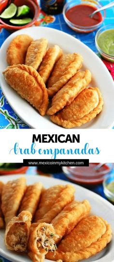 How to make Crab Empanadas │These crab empanadas are popular among beachgoers along the Gulf Coast of Mexico. Authentic Mexican Recipes, Seafood Recipes, Mexican Food Recipes, Dinner Recipes, Seafood Empanadas Recipe, Breakfast Recipes, Tostadas, Kitchen Recipes, Leche Flan