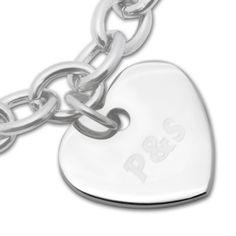Armband mit persönlichem Herzanhänger - Geschenke von Geschenkidee
