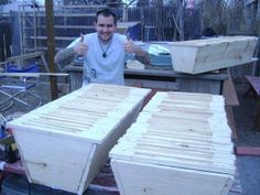 Learn more about top bar bee hives at http://www.EasyHives.com .