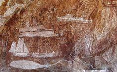 Paintings of sailboats, ocean liners, and biplanes adorn newfound rock shelters in the remote Aboriginal territory of Arnhem Land in northern Australia. The rock art, which ranges from 15,000 years old to 50 years old, chronicles Aborigine life, including scenes depicting relationships with other cultures.