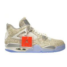 a3251341d945 Air Jordan 4 Retro Laser Men s Shoes White Chrome-Metallic Silver.