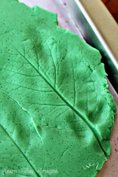 Leaf Prints in Playdough (from Learn Play Imagine)