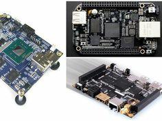 Check out http://arduinohq.com  8 alternatives to the Raspberry Pi