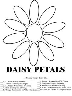 Use Resources Wisely Daisy Petal   Daisy Center and Learning Petals