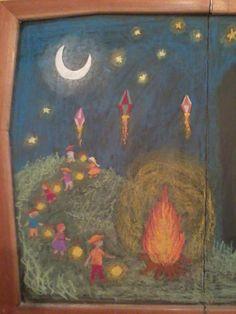 Waldorf Martinmas Festivals & Holidays inspiration Chalkboard Drawings in Escola Michaelis
