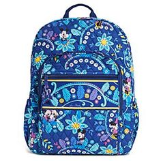 Mickey and Minnie Mouse Disney Dreaming Campus Backpack by Vera Bradley | Disney Store Totally want this bag