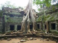 Ruins of Angkor Wat in The city of Angkor, in northwestern Cambodia