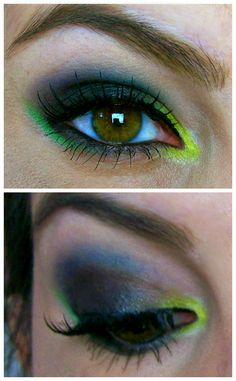 """Happy Wednesday everyone! It's Day 3 of the Electric Challenge, so here's my """"Face of the Day!"""" For the past couple of days I've used b. Electric Palette Looks, Urban Decay Electric Palette, Urban Electric, Urban Decay Tutorial, Beauty Broadcast, Crazy Eye Makeup, Cheek Makeup, Too Much Makeup, Makeup Inspiration"""