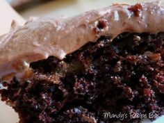 Mandy's Recipe Box: Chocolate Zucchini Cake. Very quick and easy to make. We just used a pre-made frosting and it was still divine. Just like on the site, we didn't have orange to zest, but I bet that would be delicious! I loved that it had 2 cups of zuchs too! 5 of 5.