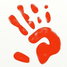 Paint, Red, Hand, Hand Print