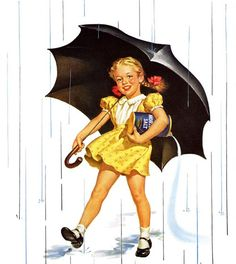 Morton Salt girl with umbrella