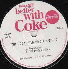 """Ray Charles + Everly Brothers; Coke radio commercial campaign, promo single """"Sound-67""""."""