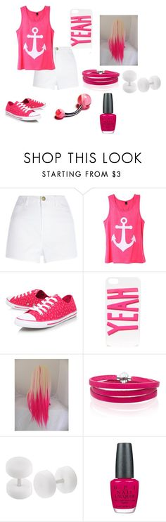 """annie 8"" by annie-hall-barton ❤ liked on Polyvore featuring River Island, Converse, ban.do, Sif Jakobs Jewellery and OPI"