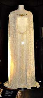 Galadriel's costume- it's so beautiful!  Galadriel's costumes in The Hobbit should have followed this line, I think....