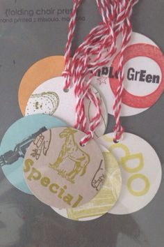 Letterpress gift tags: upcycled printer's proofs on Etsy, $5.00