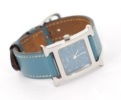 Hermes Blue Jean H-hour H-Our MM Ladies Wristwatch