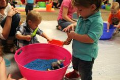 Rice Sensory Bins (Toddler Explorers at the Ela Library)
