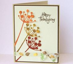 Sweet and Simple DIY Thanksgiving Cards Design - Thanksgiving Design Diy Thanksgiving Cards, Fall Cards, Christmas Cards, Card Making Inspiration, Making Ideas, Memory Box Cards, Birthday Cards For Women, Halloween Cards, Greeting Cards Handmade