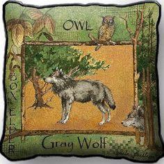 Gray Wolf (Pillow)