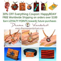 Amazing Sale now on. 30% off all items with coupon HappyBDAY. Free worldwide shipping over $100. Earn Loyalty Points with each purchase. A tree is planted for every item sold.