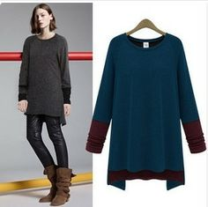 Spring 2014 new European and American women's round neck sweater bottoming shirt mixed colors T-shirts wholesale