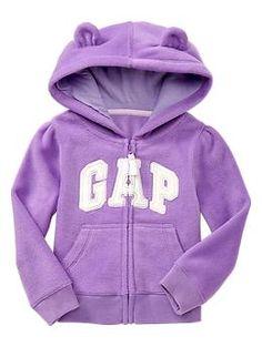 Bear arch logo fleece hoodie