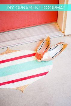 DIY Ornament Doormat