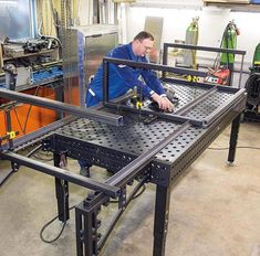 How to A Build Welding Table – Metal Welding Welding Gear, Welding Shop, Diy Welding, Metal Welding, Welding Projects, Welding Workshop, Garage Workshop, Welding Table For Sale, Fixture Table