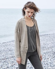 Image of Casual jersey jacket