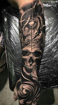 Aztec Tattoos Sleeve, Forearm Sleeve Tattoos, Forearm Tattoo Design, Skull Tattoo Design, Best Sleeve Tattoos, Tattoo Sleeve Designs, Tribal Tattoos, Forarm Tattoos, Body Tattoos