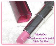 Maybelline ColorSensational Lipstick Make Me Pink Review,Swatch,Photos